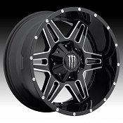 TIS Monster Energy Edition 538BM Black Milled Custom Wheels Rims