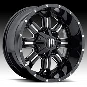 TIS Monster Energy Edition Style 535BM Black Milled Custom Wheel