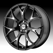 Motegi Racing MR126 Gloss Black Milled Accents Custom Rims Wheel