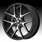 Motegi Racing MR128 Satin Black w/ Machined Face Custom Rims Whe