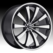 Motiv 407CB Majestic Chrome w/ Gloss Black Accents Custom Rims W