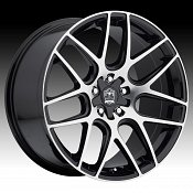 Motiv 409MB Magellan Machined Black Custom Rims Wheels