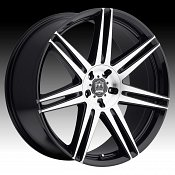 Motiv 414MB Modena Machined Black Custom Wheels Rims