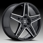 Motiv 415MB Mythic Gloss Black Machined Custom Wheels Rims
