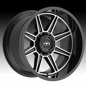 Motiv Offroad 428MB Balast Machined Gloss Black Custom Truck Wheels