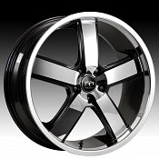 Motiv 403CB-5 Magnum Chrome w/ Gloss Black Custom Rims Wheels