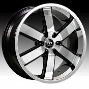 Motiv 403CB-6 Magnum Chrome w/ Gloss Black Custom Rims Wheels