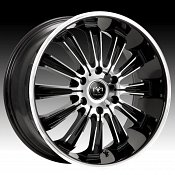 Motiv 405CB-6 Maximus Chrome w/ Gloss Black Accents Custom Rims