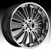 Motiv 406CB Maximus II Chrome w/ Gloss Black Accents Custom Rims