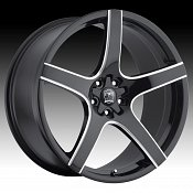 Motiv 410BM Maranello Black Milled Accents Custom Rims Wheels