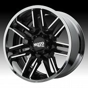 Moto Metal MO202 Black Machined / Chrome Custom Wheels Rims