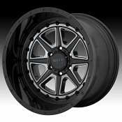 Moto Metal MO801 Phantom Machined Black Gray Tint Custom Wheels Rims