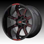 Moto Metal MO970 Black Milled Red Tint Custom Wheels Rims