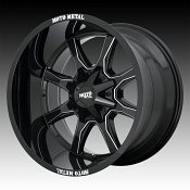 Moto Metal MO970 Gloss Black Milled Custom Wheels Rims