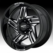 Moto Metal MO996 Ripsaw Gloss Black Milled Custom Wheels Rims