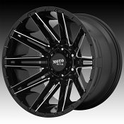 Moto Metal MO998 Kraken Gloss Black Milled Custom Wheels Rims