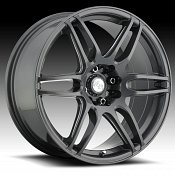 Niche M105 NR6 Gunmetal w/ Milled Accents Custom Wheels Rims