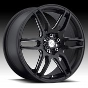 Niche M106 NR6 Matte Black w/ Milled Accents Custom Wheels Rims