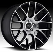 Niche M108 Circuit Machined Black Custom Wheels Rims
