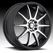 Niche M123 NR10 Matte Black Machined Custom Wheels Rims
