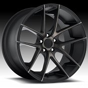 Niche M130 Targa Matte Black with Dark Tinted Clearcoat Custom W