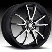 Niche M140 Monza Matte Black Machined Custom Wheels Rims
