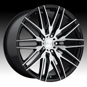 Niche Anzio M165 Brushed Black Custom Wheels Rims