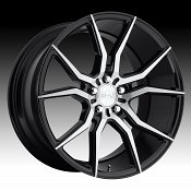 Niche Ascari M166 Brushed Black Custom Wheels Rims