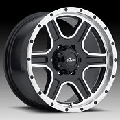 Pacer 165MB Navigator Gloss Black Machined Custom Wheels Rims