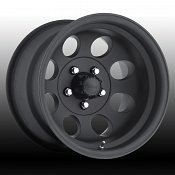Pacer 164B 164 LT Mod Matte Black Custom Rims Wheels