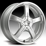 Pacer 774MS 774 Reliant Silver Machined Custom Rims Wheels