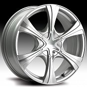 Pacer 775MS 775 Hallmark Silver Machined Custom Rims Wheels