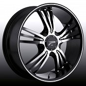 Platinum 122 Wolverine Machined Black Custom Rims Wheels
