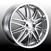 Platinum 200 Apex Chrome Custom Rims Wheels