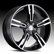 Platinum 291B 291 / 292B 292 Saber Machined Black Custom Rims Wh