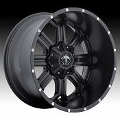 TIS Wheels 535B TISM35 Satin Black Custom Truck Wheels Rims