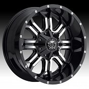 TIS Wheels 535MB Machined with Gloss Black Custom Truck Wheels Rims
