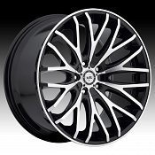 TIS 537MB Machined Black Custom Rims Wheels