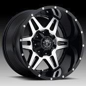 TIS Wheels 538MB Machined with Gloss Black Custom Truck Wheels Rims