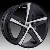 TIS 541MB Gloss Black Machined Custom Wheels Rims