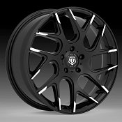 TIS 542MBT Gloss Machined Black Custom Wheels Rims