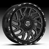 TIS Wheels 544BM Overland Black Milled Custom Wheels Rims