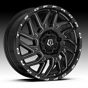 TIS 544BM Van Black Milled Custom Wheels Rims