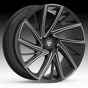 TIS 546BM Black Milled Custom Wheels Rims