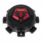 CAP-544BMR-8-TIS / TIS Gloss Black Red Bolt-On Center Cap