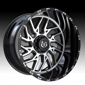 TIS Wheels 544MB Machined Gloss Black Custom Truck Wheels Rims
