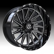 TIS Wheels 547BM Gloss Black Milled Custom Wheels Rims