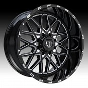 TIS Wheels 548BM Gloss Black Milled Custom Truck Wheels Rims
