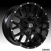 TIS Wheels 549B Satin Black Custom Truck Wheels