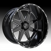 TIS Wheels 551BM Gloss Black Milled Custom Truck Wheels